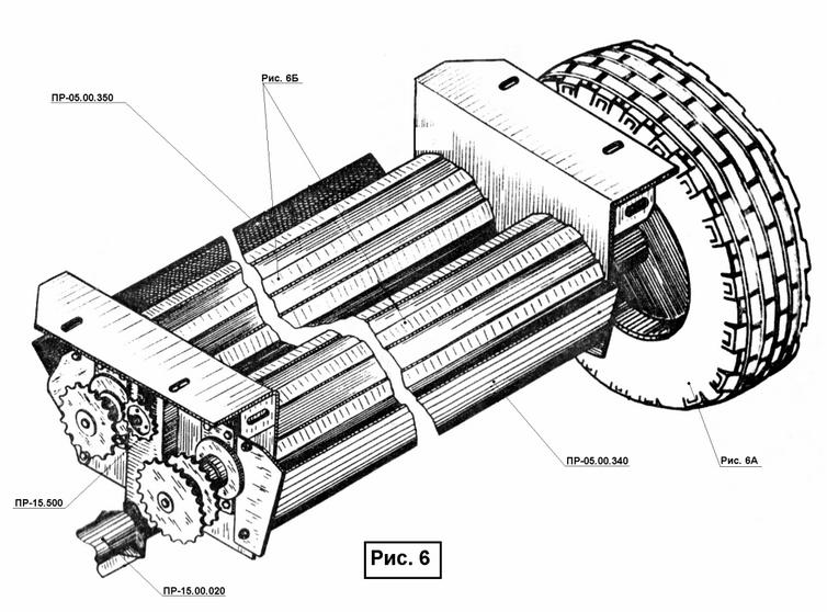 Основание камеры ПР 15.00.000 (Рис.6) является опорой для установки камеры прессования и колесного хода